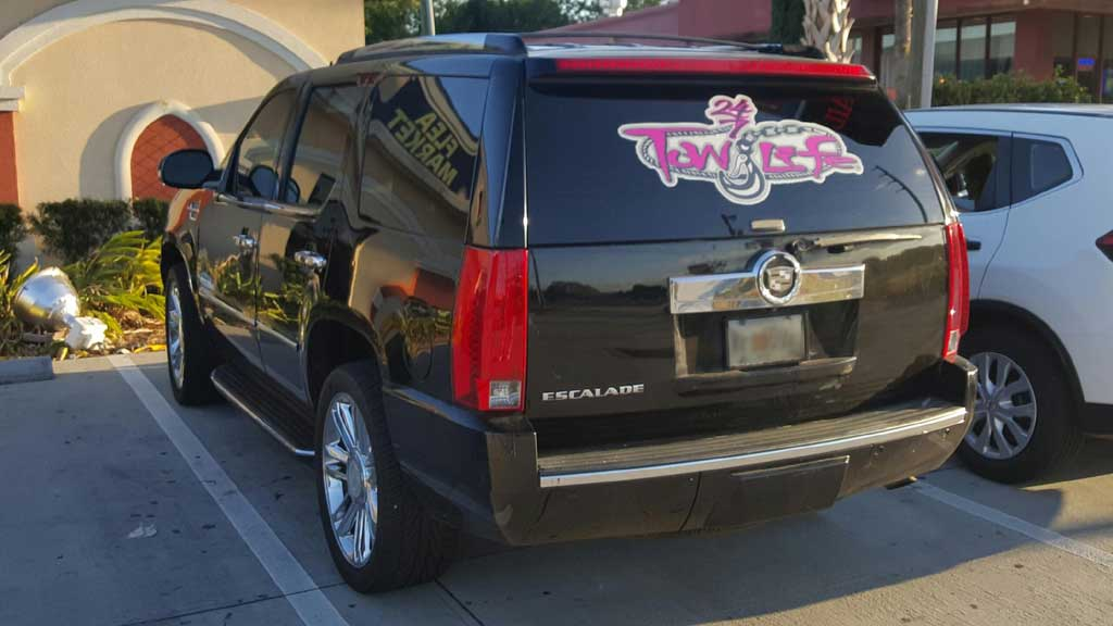 Pink Tow Life 18 X 32 Decal
