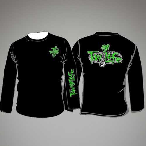 Tow Life Black Green Long Sleeve