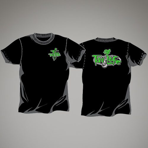 Tow Life Black Green Short Sleeve
