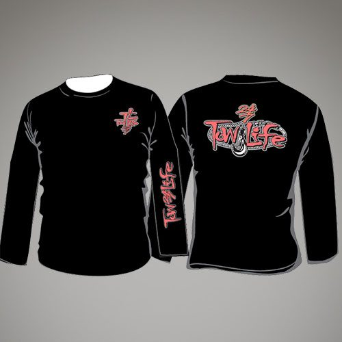 Tow Life Black Orange Long Sleeve