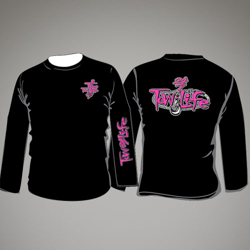 Tow Life Black Pink Long Sleeve