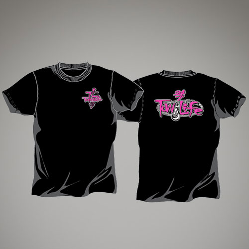 Tow Life Black Pink Short Sleeve