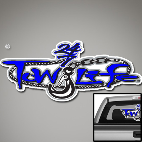 Tow Life Decal 32 Blue