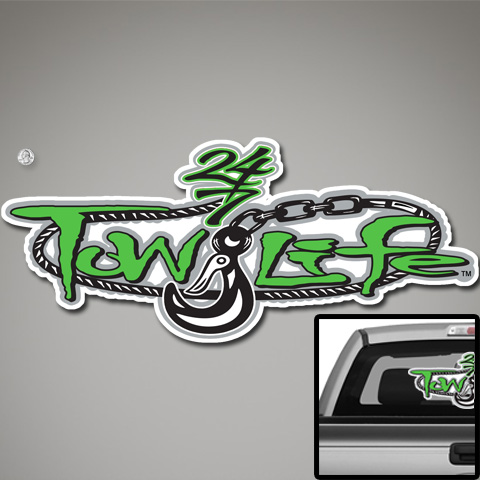 Tow Life Decal 32 Green
