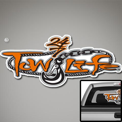 Tow Life Decal 32 Orange