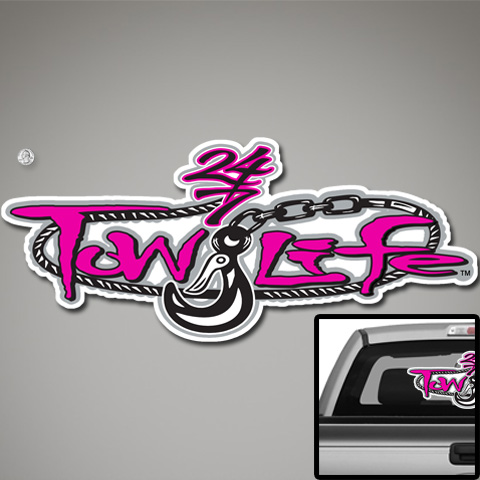 Tow Life Decal 32 Pink