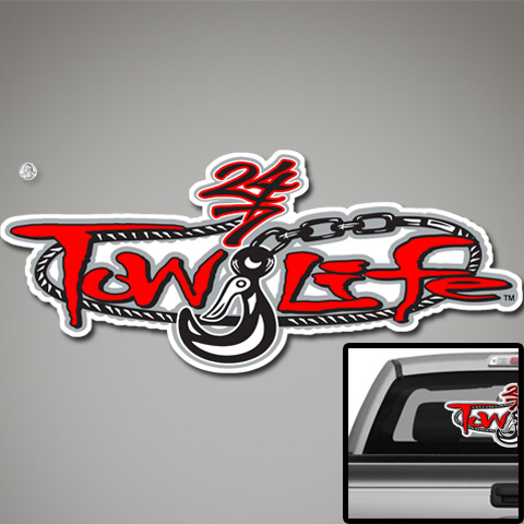 Tow Life Decal 32 Red