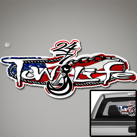 Tow Life Decal 32 US