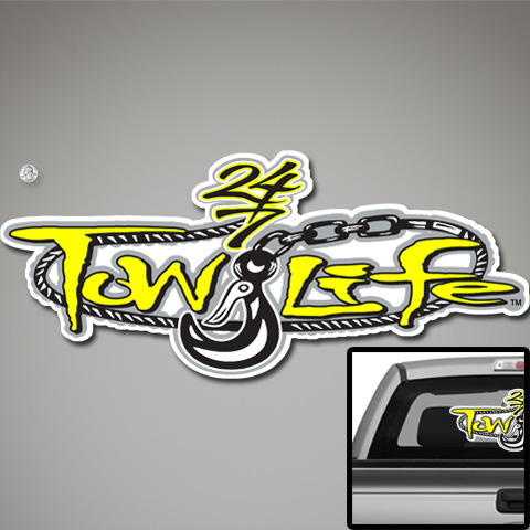 Tow Life Decal 32 Yellow