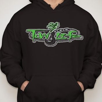 Tow Life Hoodie Green Logo