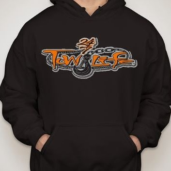 Tow Life Hoodie Orange Logo