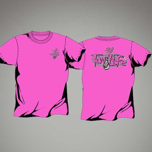 Tow Life Pink Short Sleeve