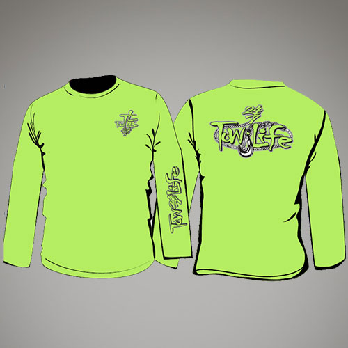 Tow Life Safety Green Long Sleeve