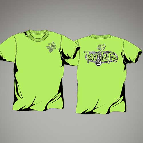 Tow Life Safety Green Short Sleeve