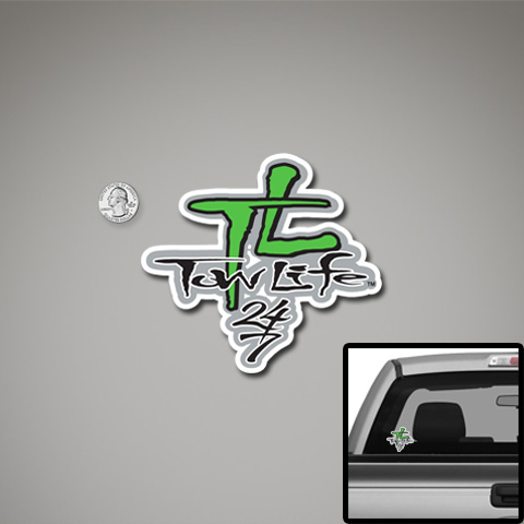 Tow Life Decal Small Green