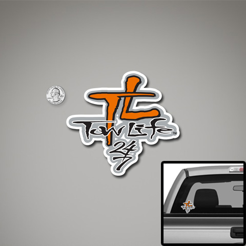 Tow Life Decal Small Orange