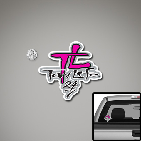 Tow Life Decal Small Pink