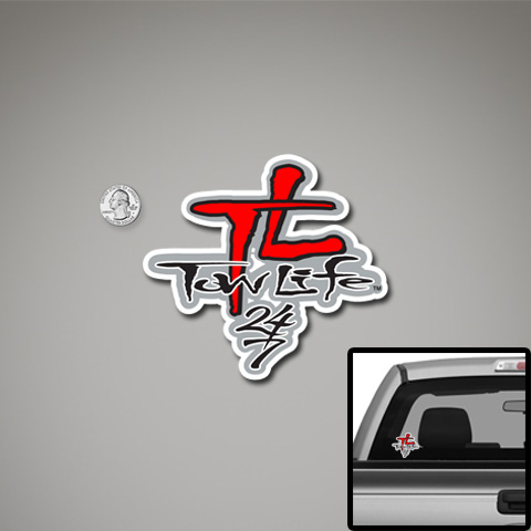Tow Life Decal Small Red