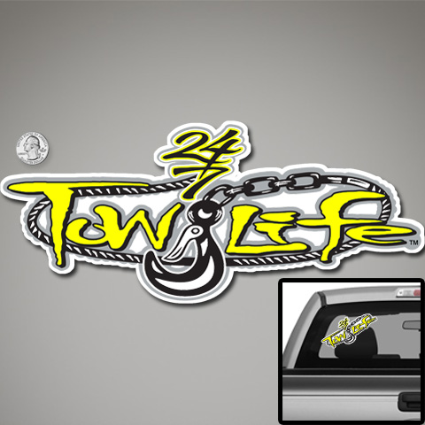 Tow Life Decal Sticker Yellow